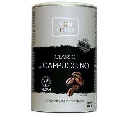 VGN FCTRY INSTANT CAPPUCCINO Classic less sweet, 280g