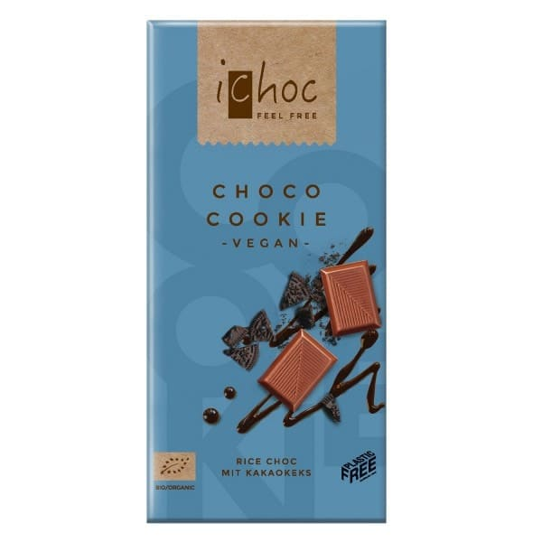 iChoc Bio CHOCO COOKIE Reisdrinkschokoladen-Kuvertüre, 80g