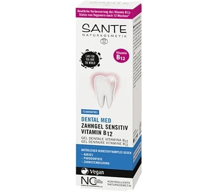 SANTE Dental Med Toothgel with Vitamin B12 - without Sodium Fluoride, 75 ml