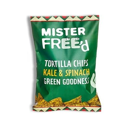 """Mister Free'd TORTILLA CHIPS """"El Verde"""" with kale and spinach, 150g"""