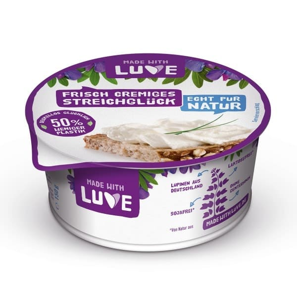 """Made with Luve FRISCH CREMIGES STREICHGLUECK """"fresh creamy spread bliss"""" natural, 150g"""
