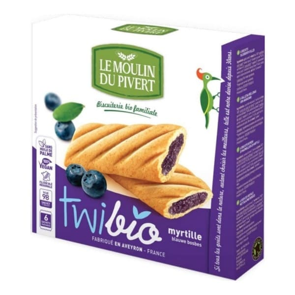 Le Moulin Du Pivert TWIBIO with Blueberry Filling, 150g