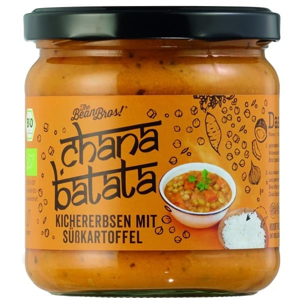 The Bean Bros CHANA BATATA Kichererbsen mit Süßkartoffel, BIO, 380g