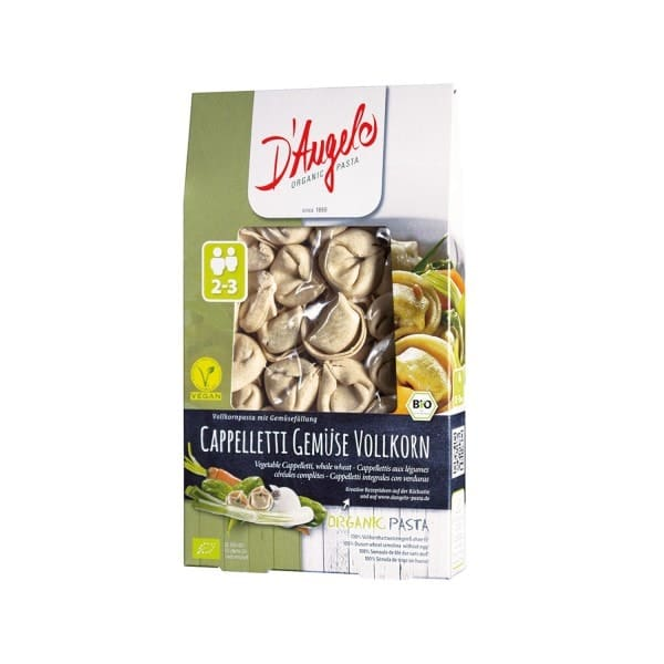 D'Angelo WHOLEMEAL CAPPELLETI with vegetables, organic, 250g