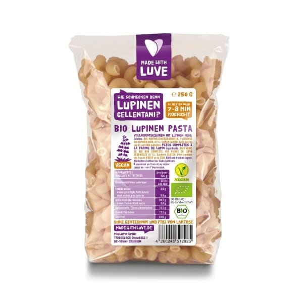 Made with Luve LUPINE CELLENTANI, organic, 250g