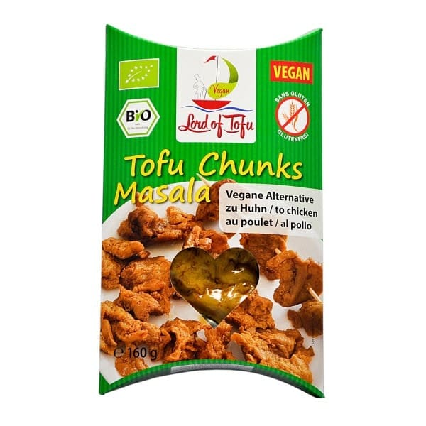 Lord of Tofu TOFU CHUNKS MASALA, organic, 160g