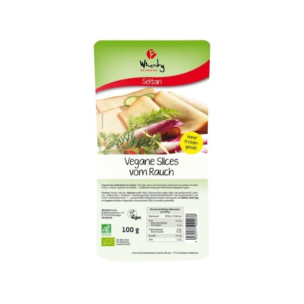 Wheaty VEGAN SLICES SMOKED, ORGANIC, 100g