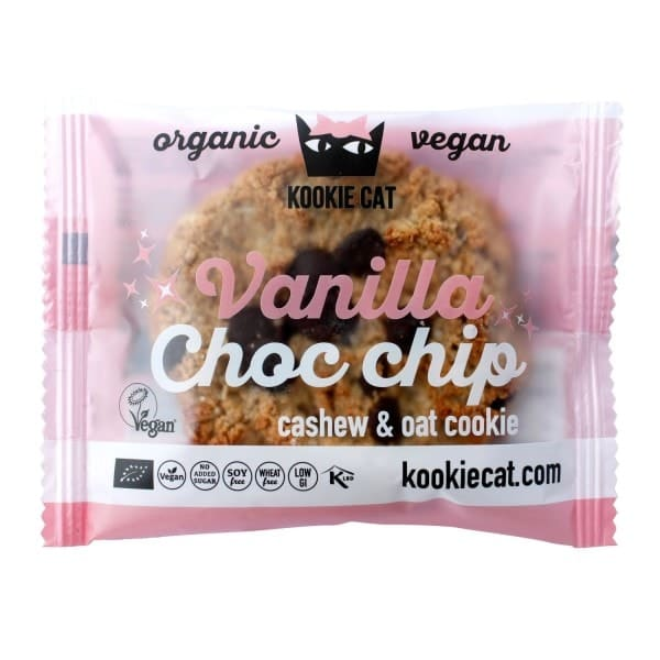 Kookie Cat CASHEW-HAFER-KEKS Vanilla & Choc chip, BIO, 50g