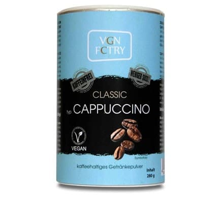 VGN FCTRY INSTANT CAPPUCCINO Classic less sugar caffeine-free, 280g