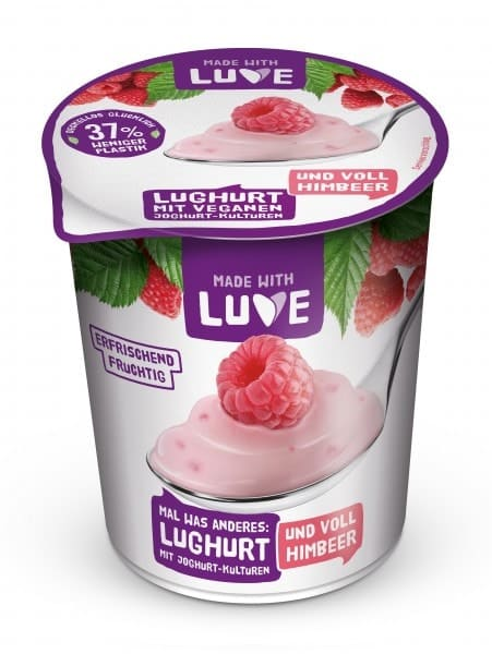 Made with Luve LUGHURT raspberry, 500g