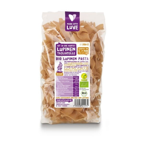 Made with Luve LUPINE TAGLIATELLE, organic, 250g
